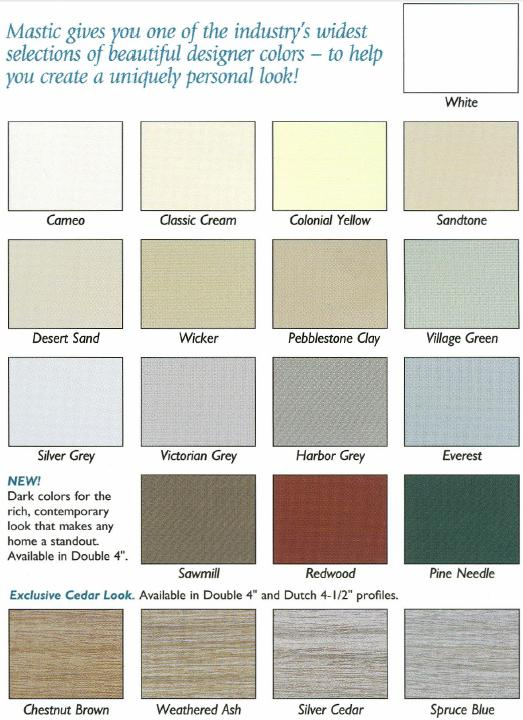 Alcoa vinyl siding color chart vinyl siding color ayucar for Best vinyl siding colors